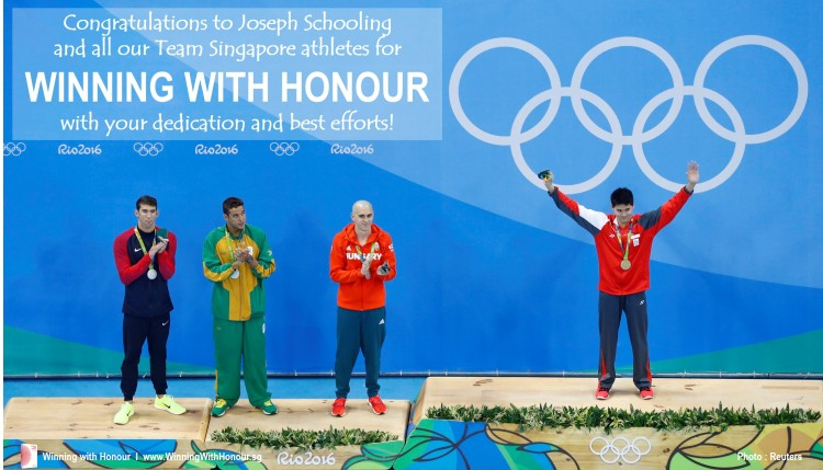 Winning with Honour  l  Gold for Singapore, Honour for Best Efforts