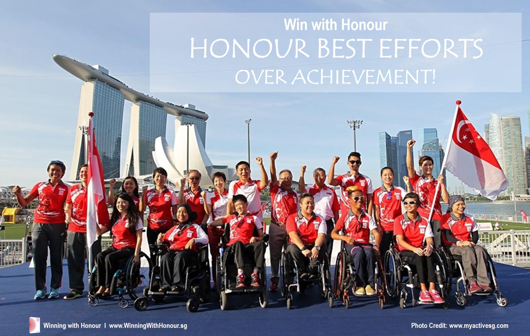 Winning with Honour  l  Honour Best Effort over Achievement