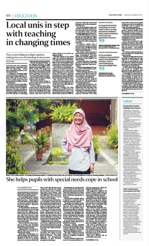 The Leading Foundation  l  Straits Times Article l 2016 Oct 3  l She helps pupils with special needs.png